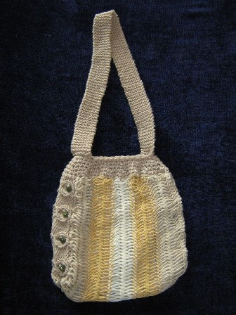 Tan Hairpin Lace Tote Bag