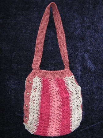 Rose Hairpin Lace Tote Bag