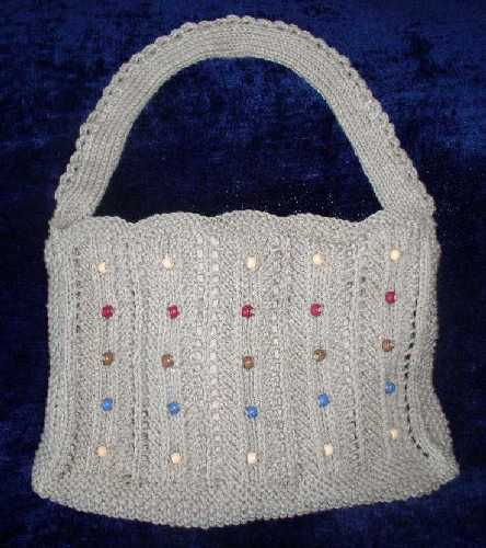 Natural Beaded Shoulder Bag