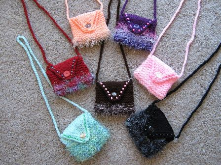 Mini Purse with Eyelash Yarn