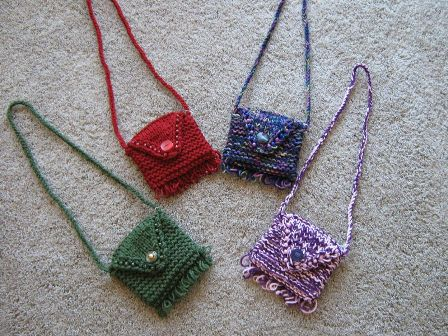Mini Purse with Loop Fringe